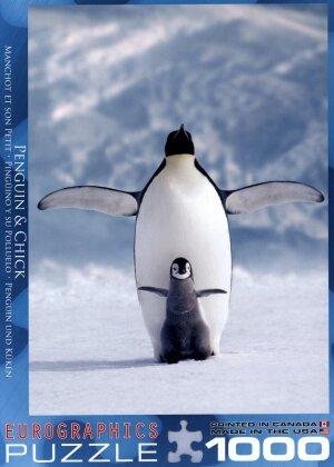 Pinguin und Küken - 1000 Teile Puzzle