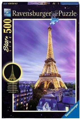 Star-Line: Funkelnder Eiffelturm - 500 Teile Glow-in-the-Dark Puzzle