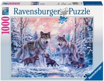 Arktische Wölfe - Puzzle