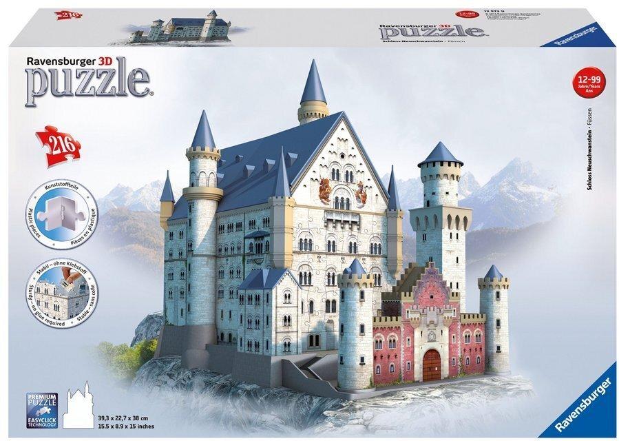 Schloss Neuschwanstein - 3D Gebäude Puzzle