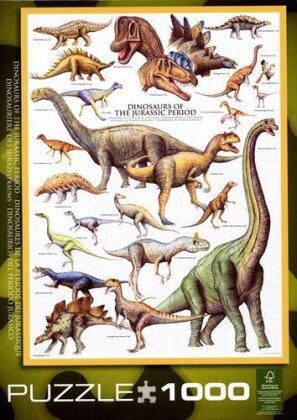 Dinosaurier des Jurazeitraums - Puzzle