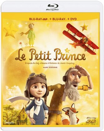 Le Petit Prince (2015) (Blu-ray 3D + Blu-ray + DVD)