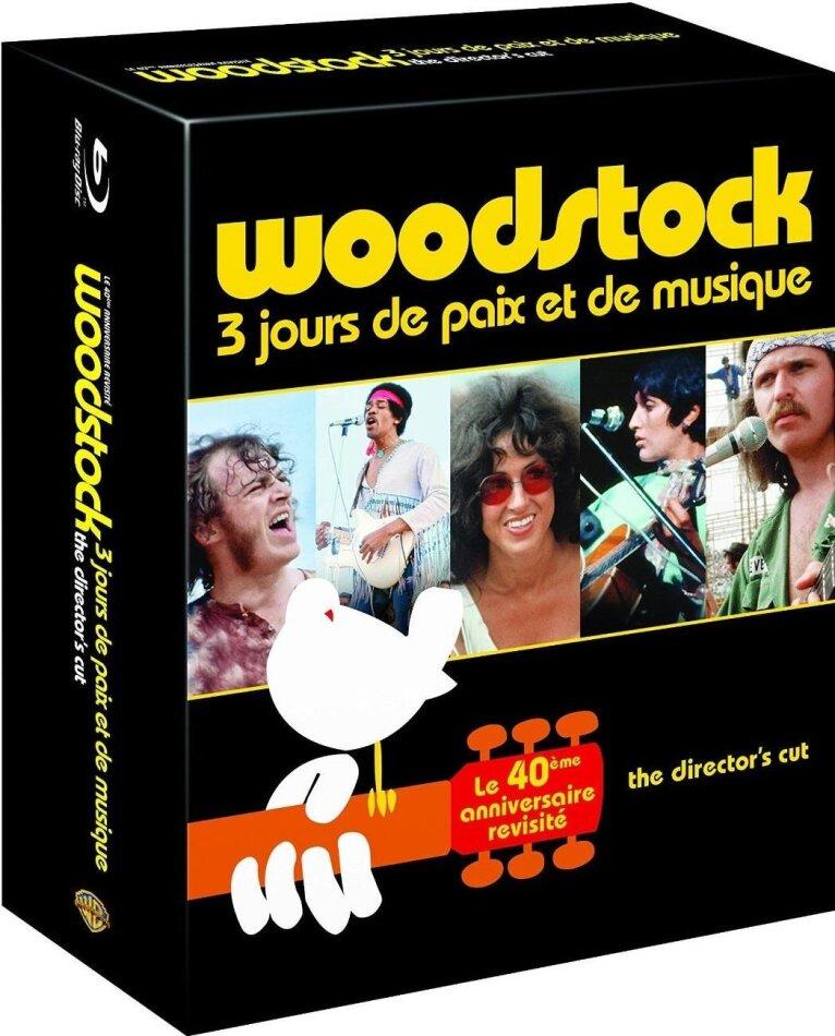 Various Artists - Woodstock - 3 jours de musique et de paix (3 Blu-rays + 4 DVDs)