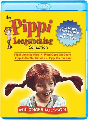 The Pippi Longstocking Collection - Pippi Longstocking / Pippi goes on Board / Pippi in the South Seas / Pippi on the Run (Remastered, 4 Blu-rays)