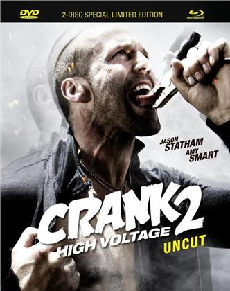 Crank 2 - High Voltage (2009) (Mediabook, Uncut, Limited Special Edition, Blu-ray + DVD)