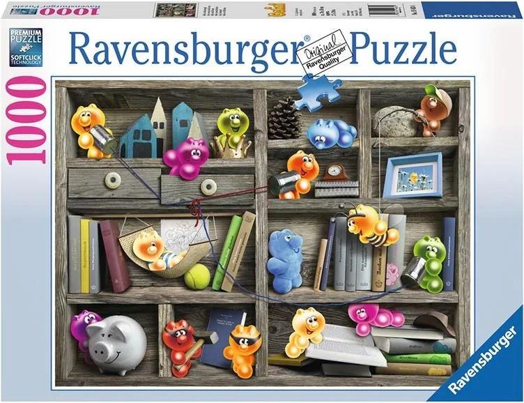Gelini: Gelini im Bücherregal - 1000 Teile Puzzle