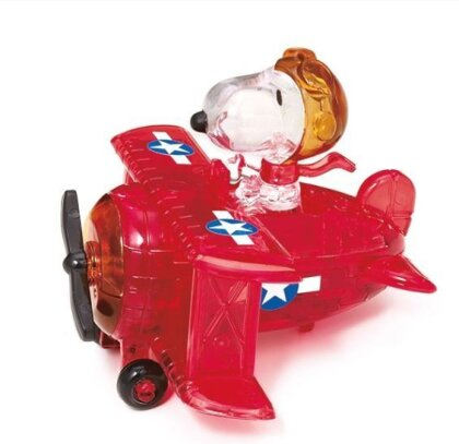 Snoopy im Flugzeug rot - 39 Teile Crystal Puzzle