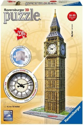Big Ben mit Uhr - 3D Gebäude Puzzle