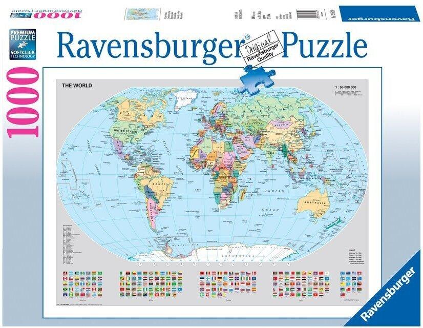 Politische Weltkarte - Puzzle