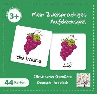 Mein Zweisprachiges Aufdeckspiel, Obst und Gemüse - Arabisch (Kinderspiel)