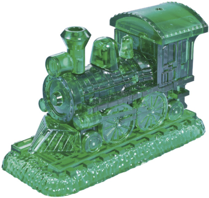 Crystal Puzzle - Lokomotive grün