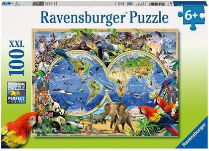 Tierisch um die Welt - 100 XXL-Teile Puzzle