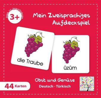 Mein Zweisprachiges Aufdeckspiel, Obst und Gemüse - Türkisch (Kinderspiel)