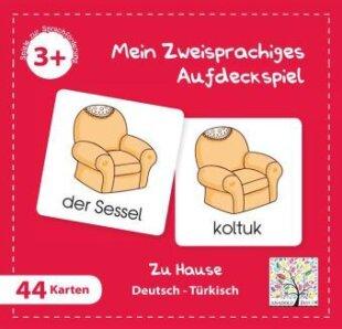 Mein Zweisprachiges Aufdeckspiel, Zu Hause - Türkisch (Kinderspiel)