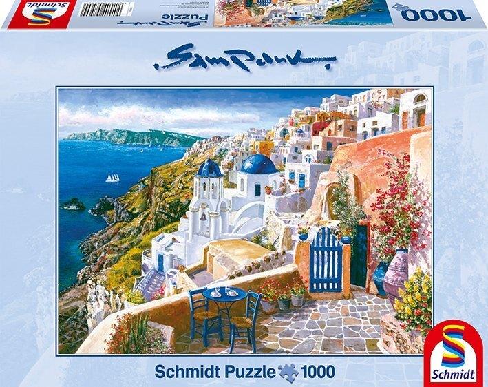 Blick von Santorin - 1000 Teile Puzzle