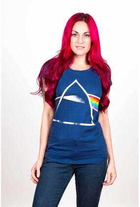 Pink Floyd Ladies T-Shirt - Dark Side of the Moon (Back Print)
