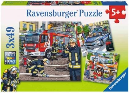 Helfer in der Not - 3 x 49 Teile Puzzles