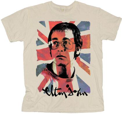 Elton John Unisex T-Shirt - Union Jack