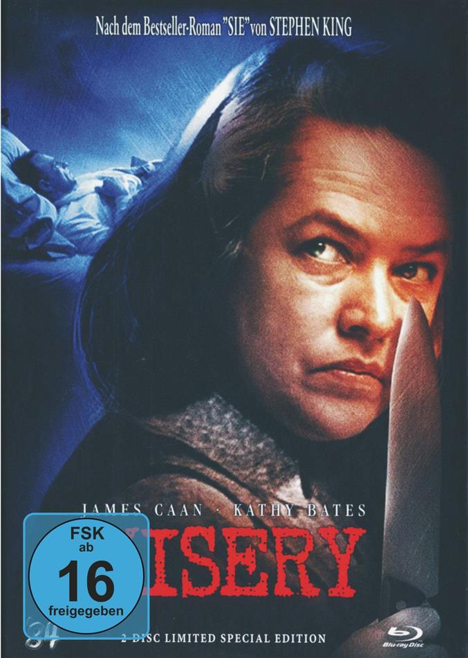 Misery (1990) (Cover C, Limited Special Edition, Mediabook, Blu-ray + DVD)