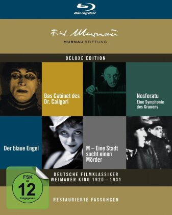 Deutsche Filmklassiker Weimarer Kino 1920 - 1931 (s/w, Deluxe Edition, Restaurierte Fassung, 5 Blu-rays)