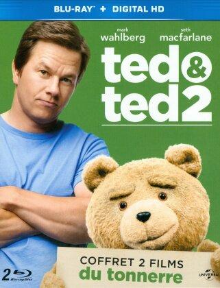Ted 1 & 2 (Coffret 2 films du tonnerre, 2 Blu-rays)