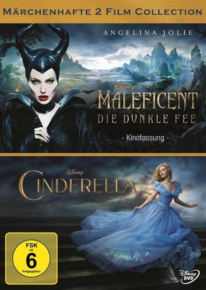 Maleficent - Die dunkle Fee / Cinderella (2 DVDs)