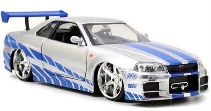2 Fast 2 Furious: Brian's 1999 Nissan Skyline GTR R34 - Diecast Modell 1:24