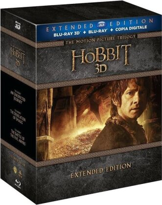 The Hobbit - The Motion Picture Trilogy (Extended Edition, 6 Blu-ray 3D + 9 Blu-ray)