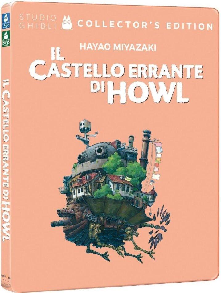 Il Castello Errante di Howl (2004) (Collector's Edition, Steelbook, Blu-ray + DVD)