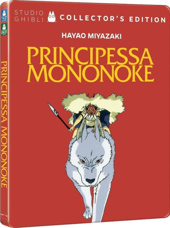 Principessa Mononoke (1997) (Collector's Edition, Steelbook, Blu-ray + DVD)