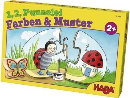 1,2, Puzzelei: Farben und Muster - 10 x 2 Teile