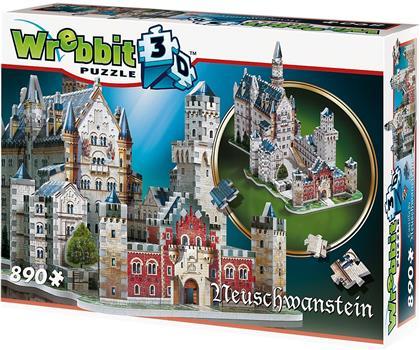 Neuschwanstein Castle - 890 Teile 3D Puzzle