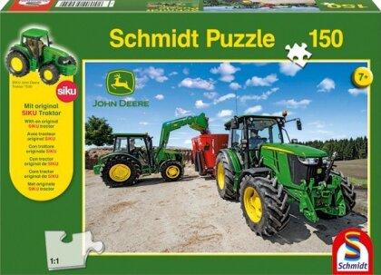 Traktoren der 5M Serie - 150 Teile Puzzle + Siku Traktor
