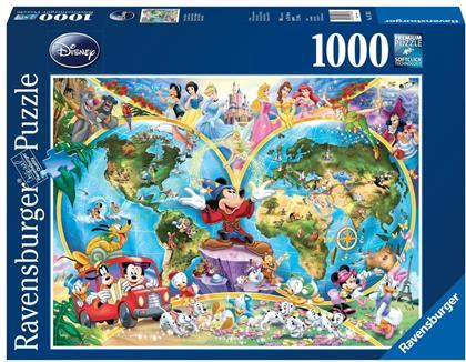 Disney: Disney's Weltkarte - 1000 Teile Puzzle