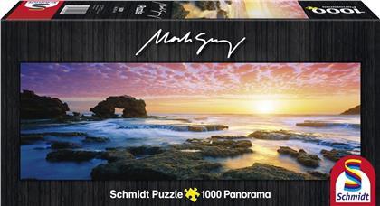 Bridgewater Bay Sunset, Victoria, Australia - 1000 Teile Panoramapuzzle