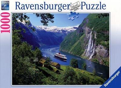 Norwegischer Fjord - 1000 Teile Puzzle