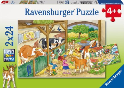 Fröhliches Landleben - 2x24 Teile Puzzles