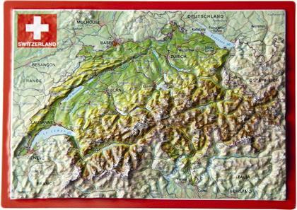 Switzerland - Schweiz - Suisse - Svizzera: Reliefpostkarte