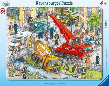 Rettungseinsatz - 39 Teile Rahmenpuzzle
