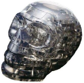 Crystal Puzzle - Schädel schwarz