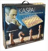 Kasparov - Grossmeister-Schachspiel in silber und bronze