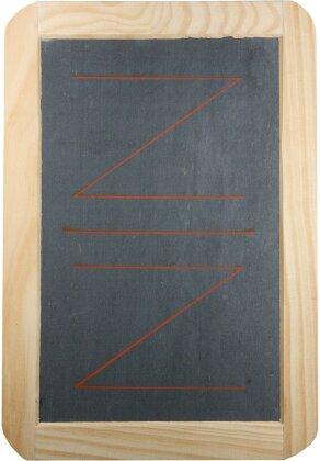 Jasstafel Z/Z mit Holzrahmen und Natur-Schiefer [16.5 x 24]