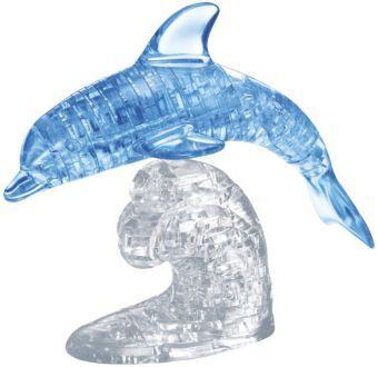 Crystal Puzzle - Delfin blau transparent