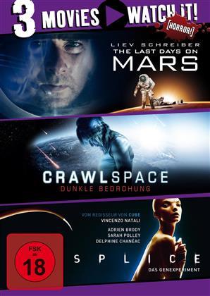 Last Days on Mars / Crawlspace / Splice (3 DVDs)