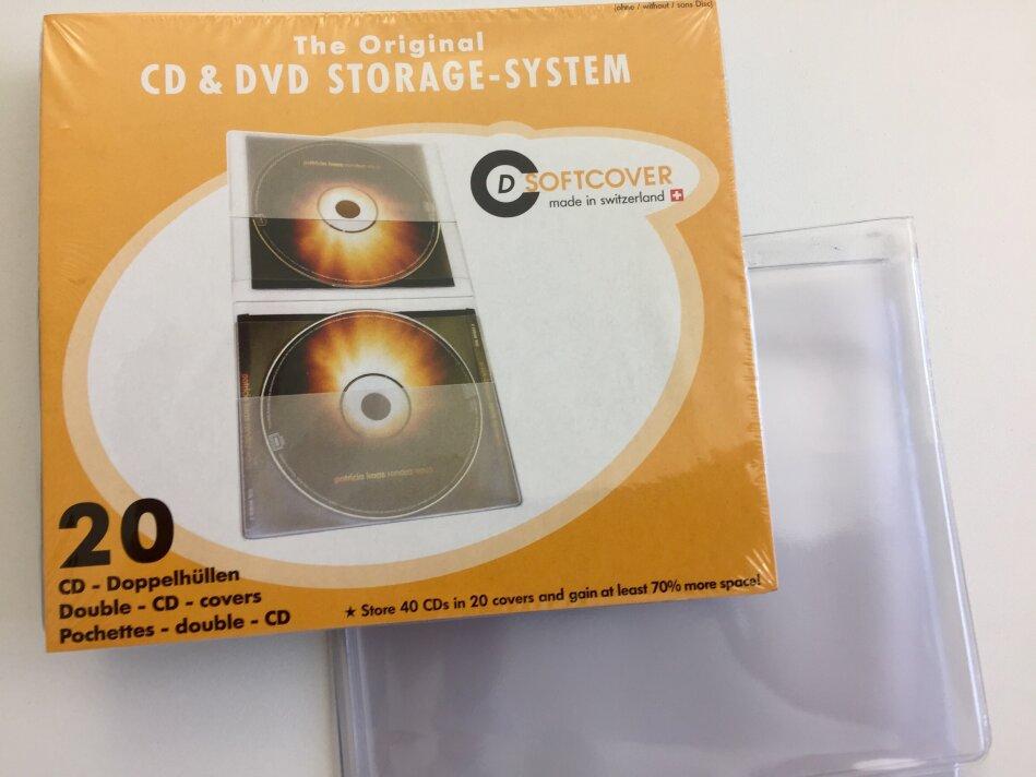 CD Softcover Doppel Hüllen - Pack a 20 Stück