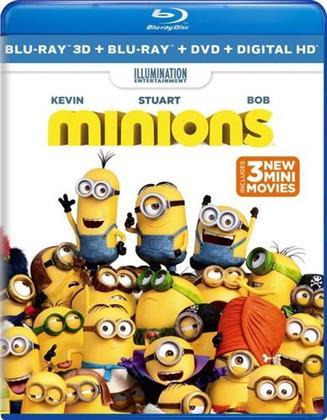 Minions - Minions (3PC) (W/DVD) / (Wbr) (2015) (Blu-ray 3D (+2D) + Blu-ray + DVD)