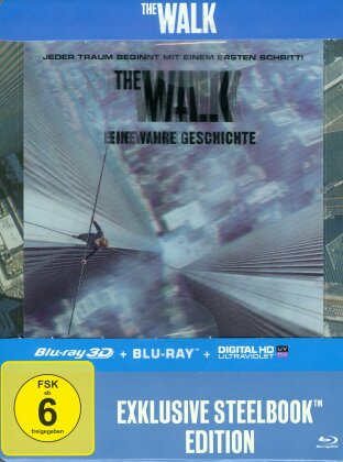 The Walk (2015) (Lenticular - Steelbook, Limited Edition, Blu-ray 3D + Blu-ray)