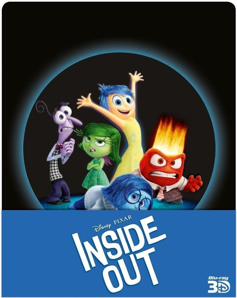 Inside Out (2015) (Limited Edition, Steelbook, Blu-ray 3D + 2 Blu-rays)