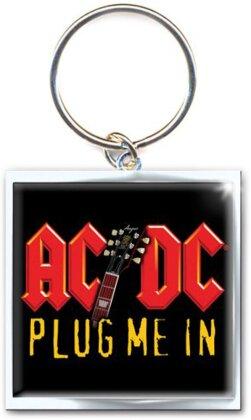 Schlüsselanhänger AC/DC Motiv - Plug me in / rot