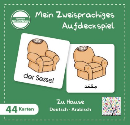 Mein Zweisprachiges Aufdeckspiel - Zu Hause (Kinderspiel)